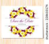 wedding invitation cards with...   Shutterstock .eps vector #228610174