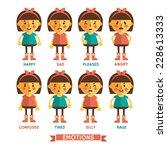 set of vector emotions of ... | Shutterstock .eps vector #228613333
