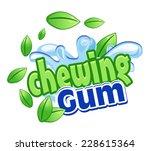 chewing gum | Shutterstock .eps vector #228615364