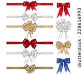 Set Of Bows And Ribbons  ...