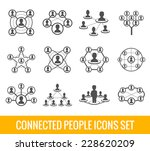 connected people social network ... | Shutterstock .eps vector #228620209