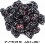 Blackberries On White Plate
