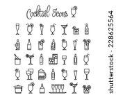cocktail icons.