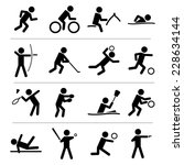 sports icon set | Shutterstock .eps vector #228634144