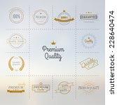 premium quality labels set | Shutterstock .eps vector #228640474