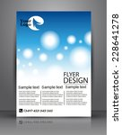 flyer design   business | Shutterstock .eps vector #228641278