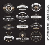 retro vintage insignias or... | Shutterstock .eps vector #228642103