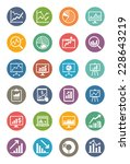 business graphs   charts icons  ... | Shutterstock .eps vector #228643219