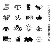 strategy and business icon set  | Shutterstock .eps vector #228643744