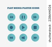 flat icons collection. media...