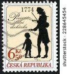 czech republic   circa 2004 ... | Shutterstock . vector #228645454