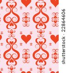 seamless valentine wallpaper | Shutterstock .eps vector #22864606