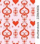 seamless valentine wallpaper | Shutterstock .eps vector #22864606
