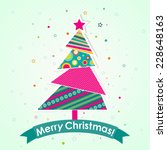 template christmas greeting... | Shutterstock .eps vector #228648163