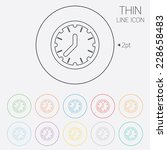 clock time sign icon.... | Shutterstock . vector #228658483