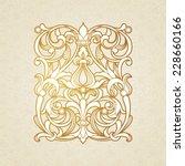 vector floral pattern in... | Shutterstock .eps vector #228660166