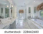 master bath in luxury home with ... | Shutterstock . vector #228662683