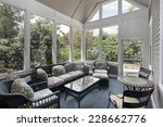 porch in suburban home with... | Shutterstock . vector #228662776