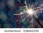 christmas sparkler | Shutterstock . vector #228663250