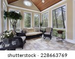 sun room in luxury home with... | Shutterstock . vector #228663769