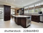 kitchen in luxury home with... | Shutterstock . vector #228664843