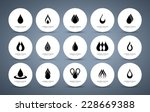 drop logo collection. vector... | Shutterstock .eps vector #228669388