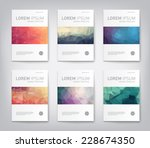 set of abstract modern cover ... | Shutterstock .eps vector #228674350