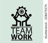 team work illustration over... | Shutterstock .eps vector #228675274