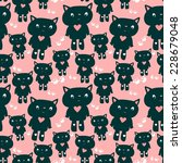 pattern with cats beautiful... | Shutterstock .eps vector #228679048