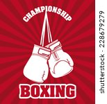 boxing graphic design   vector... | Shutterstock .eps vector #228679279