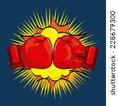boxing graphic design   vector...   Shutterstock .eps vector #228679300