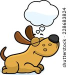a cartoon illustration of a dog ... | Shutterstock .eps vector #228683824