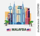 kuala lumpur  malaysia   vector ... | Shutterstock .eps vector #228692980