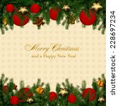 christmas card  | Shutterstock . vector #228697234