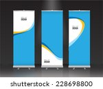 roll up banner stand design.... | Shutterstock .eps vector #228698800