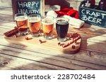 christmas beer flight | Shutterstock . vector #228702484