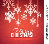 merry christmas and happy new... | Shutterstock .eps vector #228706174