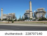 Small photo of HUNTINGTON BEACH, CA - NOVEMBER 6, 2014: The AES Power Plant on Pacific Coast Highway. The natural gas plant produces electricity for more than 40,000 homes.