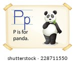 A Letter P For Panda On A Whit...