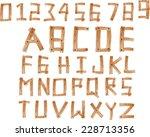 illustration of wood alphabet a ... | Shutterstock . vector #228713356
