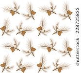 brown pine branches pattern | Shutterstock .eps vector #228725833
