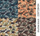 seamless camouflage pattern | Shutterstock .eps vector #228728434