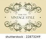vintage frame | Shutterstock .eps vector #22873249