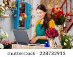 owner of flower shop | Shutterstock . vector #228732913