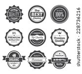 set of retro vintage badges and ... | Shutterstock .eps vector #228736216