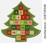 advent calendar | Shutterstock .eps vector #228739048