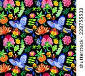 seamless floral   flower... | Shutterstock .eps vector #228755533
