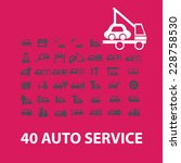 auto service  car repair ... | Shutterstock .eps vector #228758530