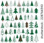 green icons conifers on white... | Shutterstock .eps vector #228766543