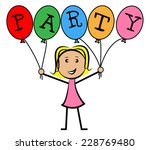 party balloons indicating... | Shutterstock . vector #228769480